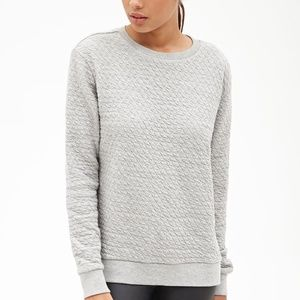Forever 21 Textured Diamond Sweatshirt